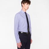 Paul Smith Men's Tailored-Fit Navy Stripe 'Artist Stripe' Double-Cuff Shirt