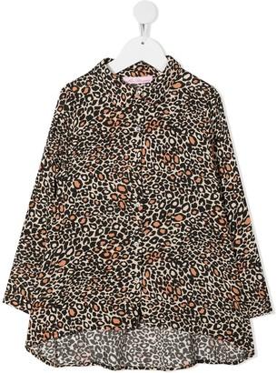 Miss Blumarine Leopard-Print Shirt Dress