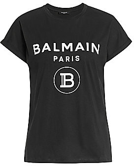 Balmain Women's Glittered Logo T-Shirt