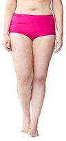 Classic Women's Plus Size Veranda Floral High Waist Bikini Bottoms-Berry Pink