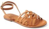 Gap Leather lattice sandals