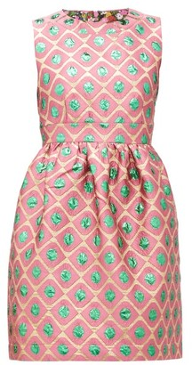 La DoubleJ Jackie Pomodorini-jacquard Mini Dress - Pink Multi