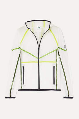 Tory Sport Striped Ripstop Hooded Jacket - White