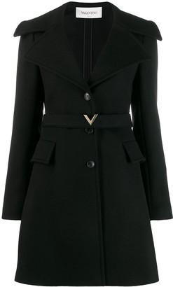 Valentino compact V belt coat