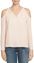 1 STATE 1.STATE Cold Shoulder Split Neck Blouse