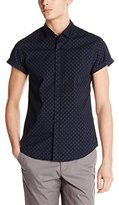Scotch & Soda Men's Short Sleeve Dress Shirt