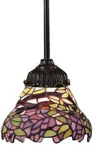 ELK Lighting Tiffany BronzeMix-N-Match 1-Light Pendant Lamp in Lilac