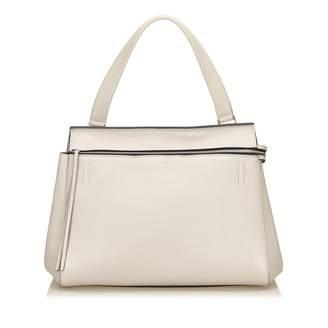 Celine Edge White Leather Handbags