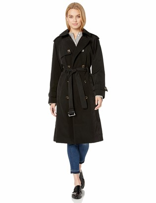 London Fog Women's Double-Breasted 3/4 Length Belted Trench Coat
