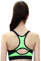 S. L. BoSS Women's Wirefree Padded Front Zip/ Zipper Closure Sports Bra for Exercise, Yoga & Jogging By S.L.BoSS (Large, )