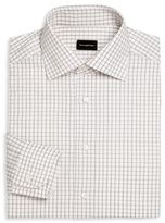 Ermenegildo Zegna Regular-Fit Checked Dress Shirt