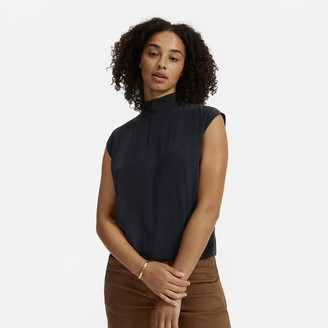 Everlane The Clean Silk Tie Neck Blouse