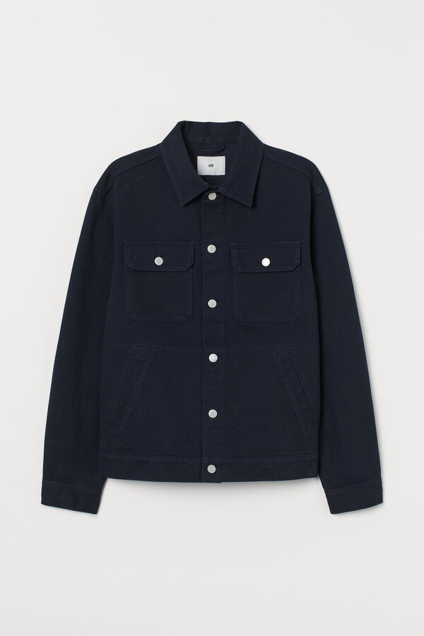 H&M Cotton Twill Jacket - Blue