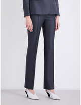 Stella Mccartney Anna Straight Wool-piqué Trousers