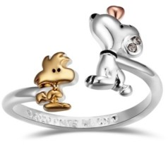 Peanuts Snoopy and Woodstock Bypass Ring