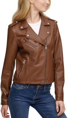 Levi's Women's Faux-Leather Motorcycle Jacket