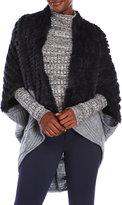 La Fiorentina Real Fur & Knit Cocoon Wrap