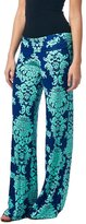 QIAONIER Women's High Waist Printed Palazzo Wide Leg Pants (XL, )