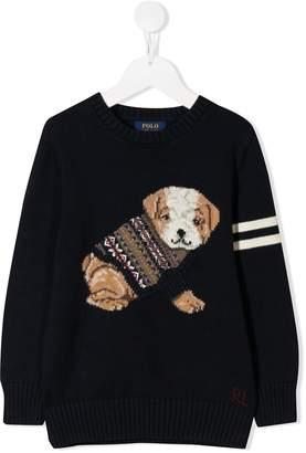 Ralph Lauren Kids puppy motif jumper