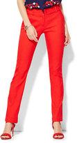 New York & Co. 7th Avenue Pant - Slim-Leg - Runway - Campfire Red - Petite