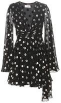 Saint Laurent Metallic Silk-blend Dress