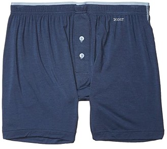 2xist Modal Knit Boxer (Vintage Indigo) Men's Underwear