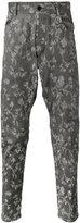 Unconditional embroidered drop crotch jeans - men - Cotton/Spandex/Elastane - XS