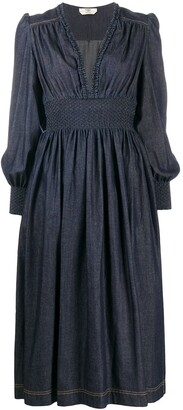 Fendi Pleated Mid-Length Dress