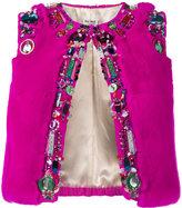Miu Miu bead embellished cropped gilet