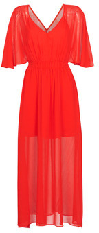 Naf Naf CAMILLE R1 women's Long Dress in Red