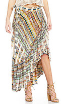 Chelsea & Violet Santa Cruz Printed Wrap Skirt