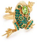 Oscar de la Renta Crystal Frog Ring