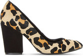 Dune Alberta leopard print court shoes