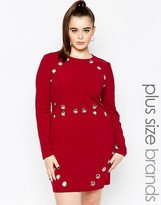Missguided Plus Detail Body-Conscious Dress