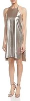 Halston Metallic Jersey Slip Dress
