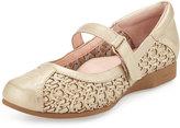 Taryn Rose True Woven Mary Jane Traveler Sneaker, Soft Gold