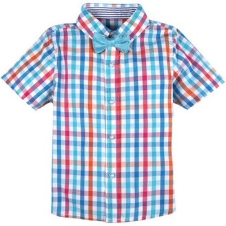 G Cutee Toddler Boys' Multi Check Shirt with Glasses Bowtie