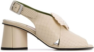 Gucci Perforated Block Heel Sandals