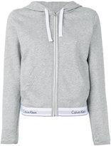 Calvin Klein Jeans logo band zipped hoodie - women - Cotton/Polyester - L