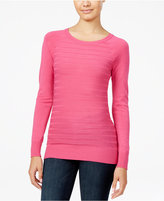 Energie Juniors' Willow Textured-Stripe Sweater