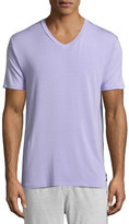 Psycho Bunny Luxe V-Neck Tagless Jersey Lounge Tee, Lavender