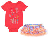 Baby Starters Coral 'Young, Wild & Free' Bodysuit & Tutu Skirt - Infant