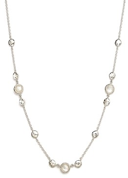 Ippolita Sterling Silver Rock Candy Mother-of-Pearl and Clear Quartz Doublet Necklace, 16