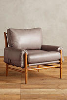 Anthropologie Leather Rhys Ottoman