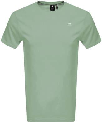 G Star Raw Lash Logo T Shirt Green