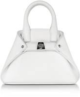 Akris White Leather Micro Ai Crossbody Bag