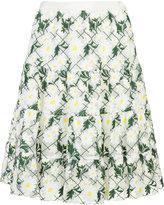 Giambattista Valli floral print skirt - women - Cotton/Polyester/Polyimide - 40