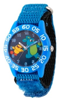 EWatchFactory Boy's Disney Toy Story 4 Bunny Ducky Blue Plastic Time Teacher Strap Watch 32mm