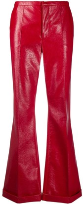 Philosophy di Lorenzo Serafini High-Rise Coated Kick-Flare Trousers