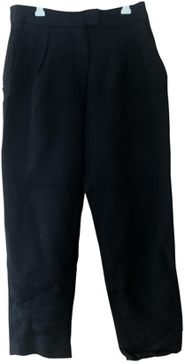 Studio Nicholson Black Viscose Trousers